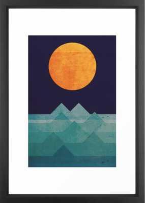 The ocean, the sea, the wave - night scene Framed Art Print 15 x 21 - Society6