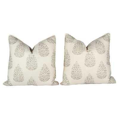 Kedara Linen Leaf Pillows, Pair - One Kings Lane