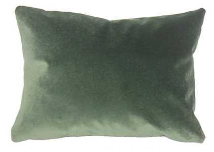 "Wish Holiday Pillow Green - 12"" x 18"" - Poly Insert - Linen & Seam"