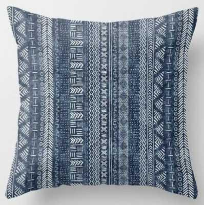 Mud Cloth Stripe Throw Pillow - Society6