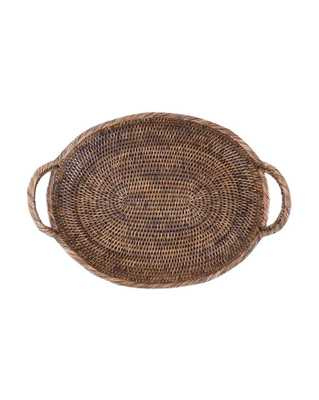 OVAL DARK RATTAN TRAY - McGee & Co.