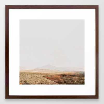 Abstract modern Desert Landscape Photography Framed Art Print - Society6
