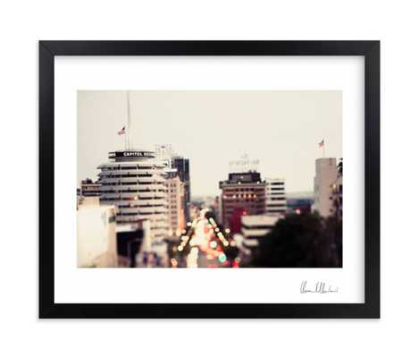 capitol records at dusk - signed - Minted