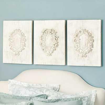 Ballard Designs Coretta Wood Fragments - Set of 3 - Ballard Designs