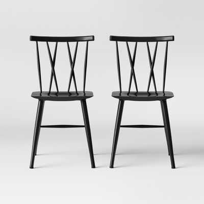 Set of 2 Becket Metal X Back Dining Chair - Project 62™ - Target
