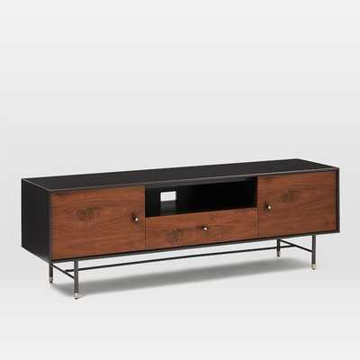 """Modernist Wood & Lacquer Media Console (68"""") - Anthracite - West Elm"""