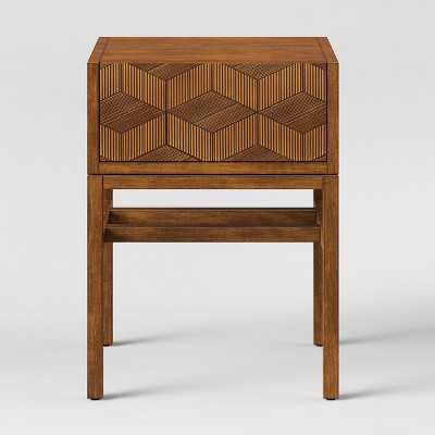 Tachuri Geometric Front Accent Table Brown - Opalhouse™ - Target