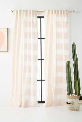 """Woven Rayas Curtain - 96""""L- peach - Anthropologie"""