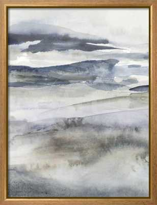 "Victoria Borges Neutral Salt Spray I _ 24"" x 32""_ Rustique Tan Gold Framed Canvas - art.com"