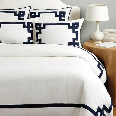 Suzanne Kasler Greek Key Bedding -Queen Duvet - Ballard Designs