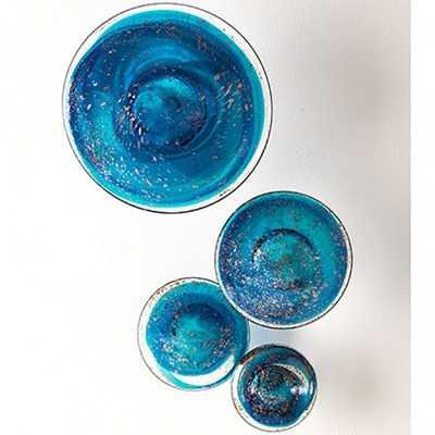 Wall Mushroom Blue, Set of 4 - High Fashion Home