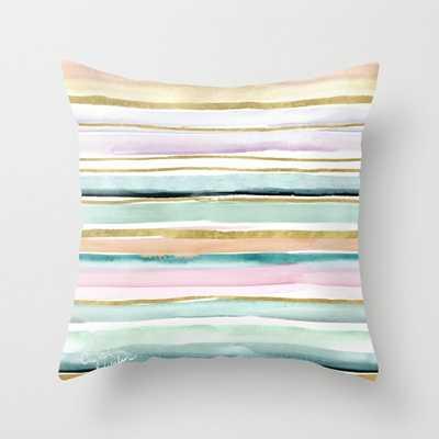 Day Dream Stripe Throw Pillow - Society6