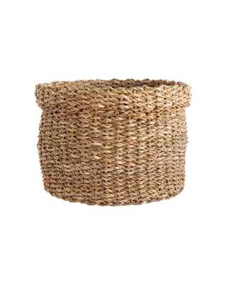 CUFFED SEAGRASS BASKET - MEDIUM - McGee & Co.