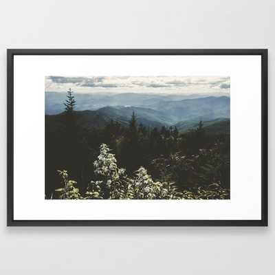 Smoky Mountains - Nature Photography Framed Art Print, 26x38 - Society6