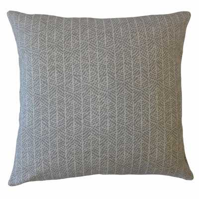 HARSHA STRIPED PILLOW GREY - Linen & Seam