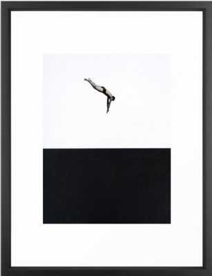 Dive Framed Art Print 20 x 26 - Society6