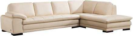 Stockbridge Leather Sectional - Right Hand Facing - Beige - Wayfair