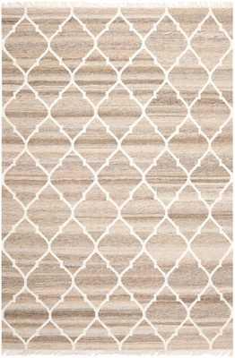 Arlo Home Hand Woven Flatweave Area Rug, NKM317A, Light Grey/Ivory,  9' X 12' - Arlo Home