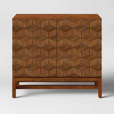 Tachuri Geometric Front 2 Door Cabinet Brown - Opalhouse™ - Target