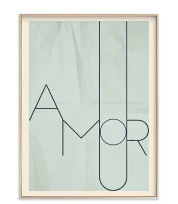 amour - french blue - 18x24, matte brass frame - Minted