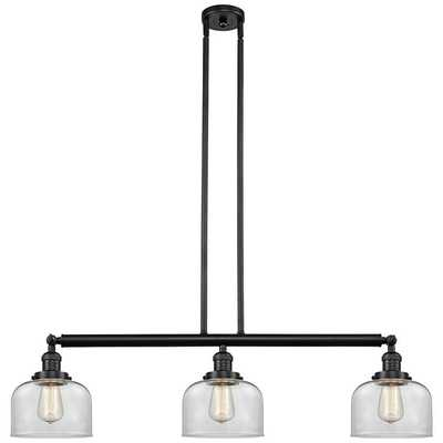 """Large Bell 40 1/2""""W Oil-Rubbed Bronze 3-Light Island Pendant - Style # 65V98 - Lamps Plus"""