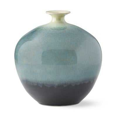 Teal Ombre Reactive Glaze Vase,large, Jade - Williams Sonoma