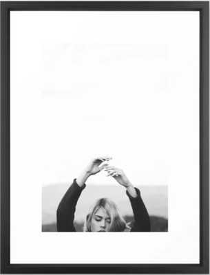 HANDS IN THE AIR - FRAMED ART PRINT VECTOR WHITE - Society6