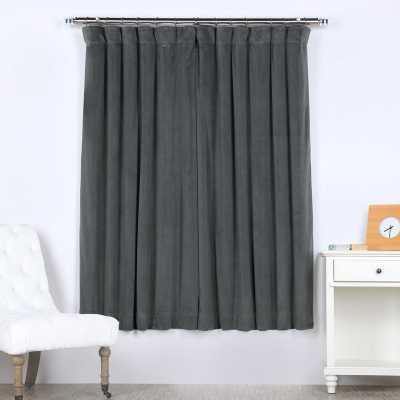Natural Gray Velvet Curtains - Wayfair