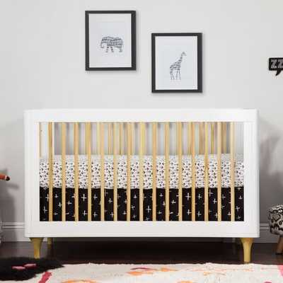 Lolly 3-in-1 Convertible Crib - White/Natural - Wayfair