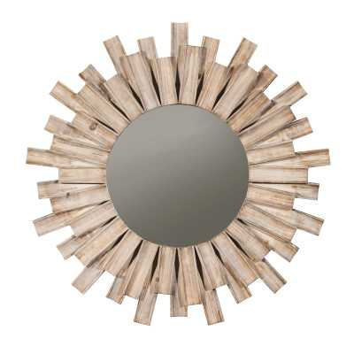 Nathaniel Burst Wood Accent Mirror - Wayfair