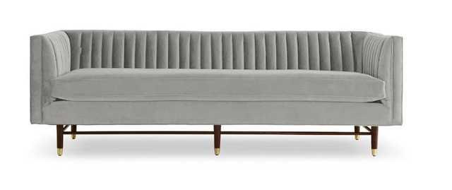 Gray Chelsea Mid Century Modern Sofa - Sunbrella Premier Fog - Mocha - Joybird