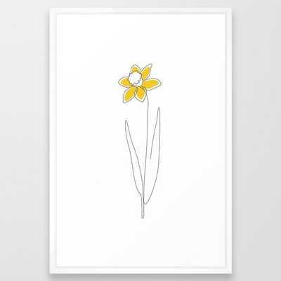 Mustard Daffodil Framed Art Print - Society6