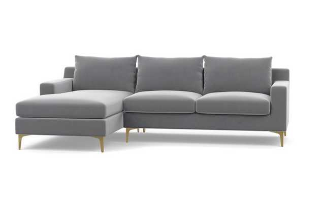 "Sloan Sectional Sofa with Left Chaise, 104"" - Interior Define"