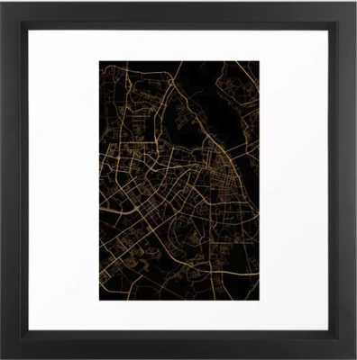 Hanoi map, Vietnam Framed Art Print - Society6