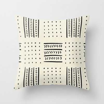 Mud Cloth in Cream Throw Pillow - Indoor with Insert - Society6