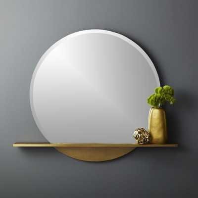 Perch Round Mirror with Shelf - CB2