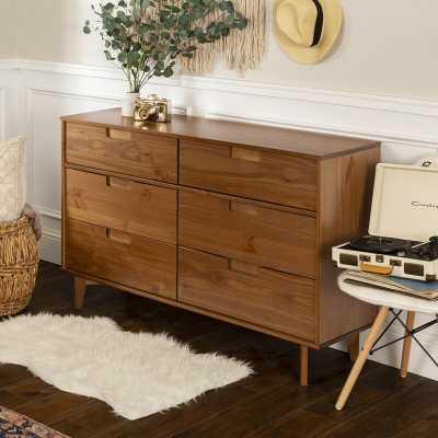 Dorinda Groove 6 Drawer Double Dresser - Wayfair