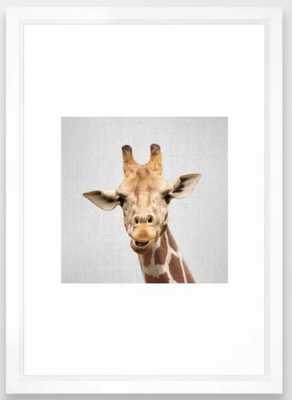 Giraffe 2 - Colorful Framed Art Print - Society6