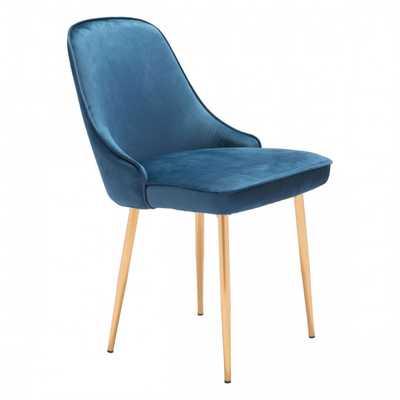 Merritt Dining Chair Navy Velvet - Zuri Studios