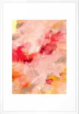 "abstract painting I Framed Art Print - 26"" x 38"" - Vector White - Society6"