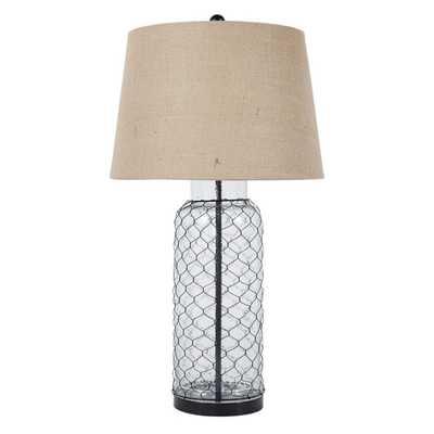 AshleyFurniture L430114 Sharmayne Transparent Glass Table Lamp - Hayneedle