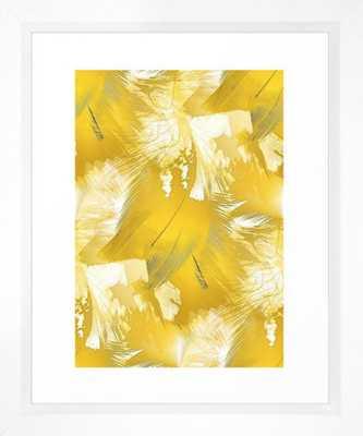 Golden Feathers Framed Art Print - Society6