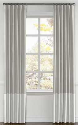 Convertible Drapery  Classic Linen - Heathered Dove, split draw pair - Loom Decor