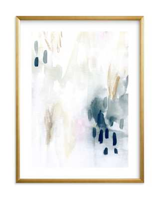 """ever softly framed art print- Size 18"""" X 24""""- Gilded Wood Frame- Midnight- Standard Plexi & Materials- White Border - Minted"""