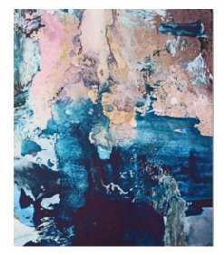 Breathe Again: a vibrant mixed-media piece in blues pinks and gold by Alyssa Hamilton Art Canvas Print - Society6