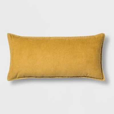 Reversible Corduroy Oversize Lumbar Throw Pillow - Threshold™ - Target