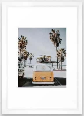 lets surf / venice beach, california Framed Art Print - Society6