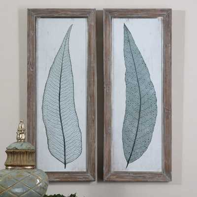 TALL LEAVES FRAMED PRINTS, S/2 - Hudsonhill Foundry