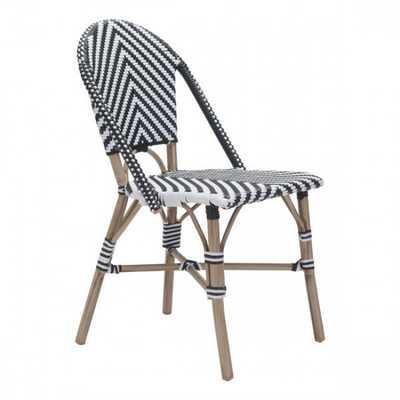 Paris Dining Chair Black&White, Set of 2 - Zuri Studios