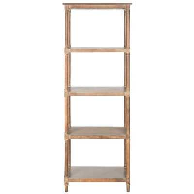 Odessa Washed Natural Pine Open Bookcase - Home Depot